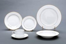 Rim Dinnerware Gold Bands