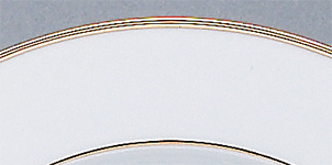 Rim Dinnerware Gold Bands