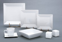 Square Dinnerware White