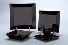 Square Dinnerware Black