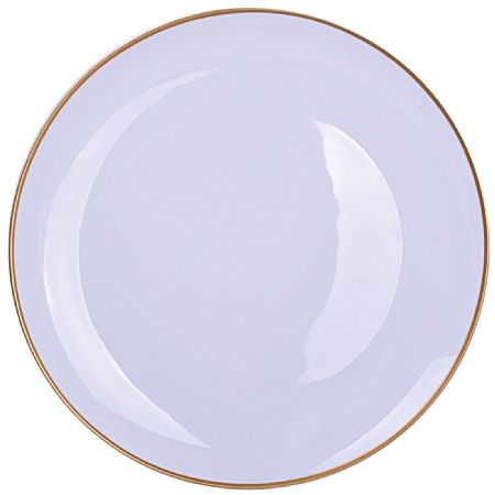 """M10261-01 10.5"""" COUPE PLATE WITH MICA GOLD PLATE"""
