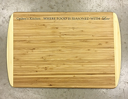 "Bamboo Cutting Board 18"" x 12"" x 3/4"""