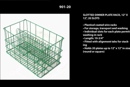 "Round Dinner Plate Rack up to 11"", 20 Slots"