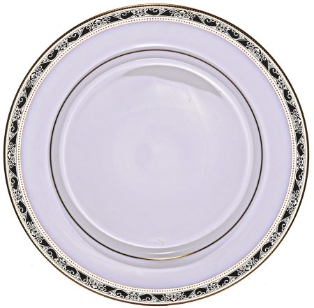 "Lillyana 10-1/2"" Plate with Narrow Band/Closeout"