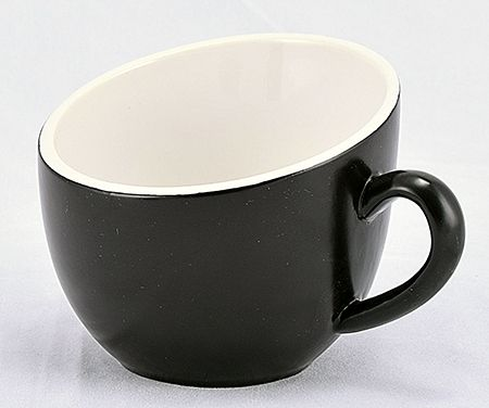 DCOF07BL  TEA CUP BLACK 7 OZ