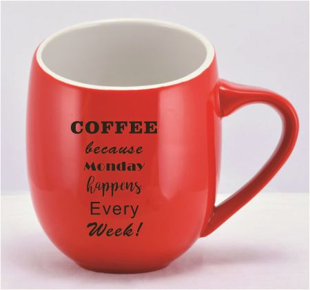 DCOF16RED-D  MUG RED 16 OZ - Custom Decoration 1 Color