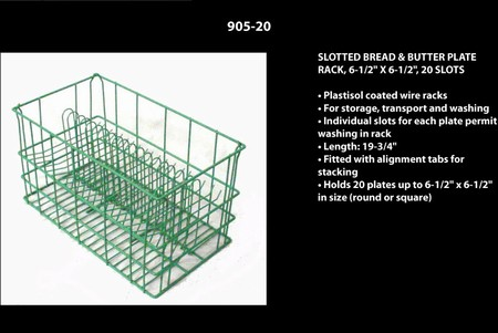 "Round Plate Rack Up to 5-1/2"", 20 Slots"