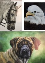 Paula Lavergne - Animals Of Your Choice on Tile 4 Day Class Inclusive