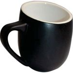OFF12BL-L OFFERO MUG BLACK - LEFT HAND 12 OZ