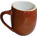 OFF12BR-L OFFERO MUG BROWN - LEFT HAND 12 OZ