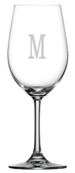 F15301 - Set of 6 Laser Etched Red Wine Glasses